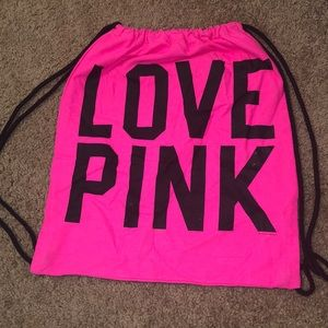 (2) Victoria's Secret Pink back pack sacks
